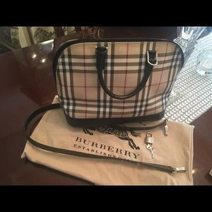 Burberry Classic Plaid Satchel